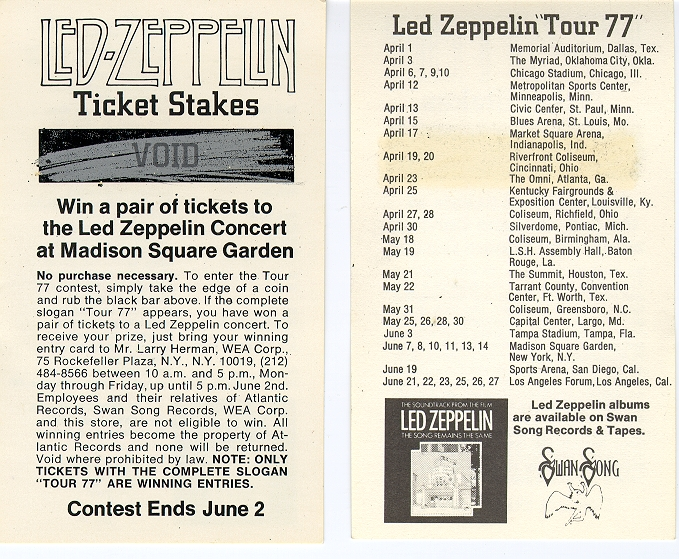 1977-Led-Zeppelin-New-York-City-NY-Madison-Square-Garden-Ticket-Contest-NYC-MSG